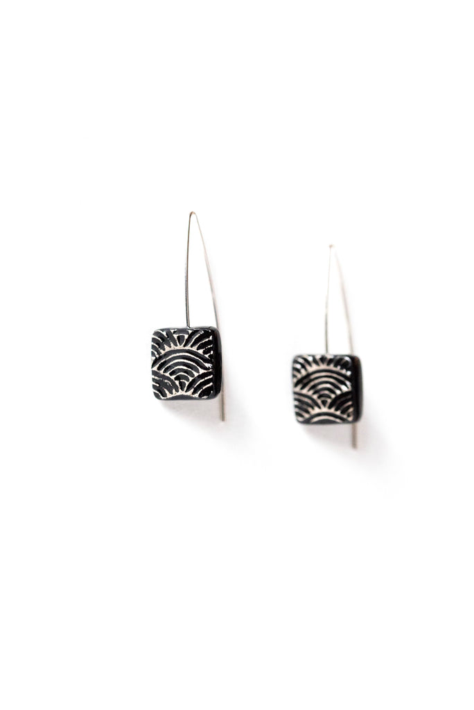 Graziella Cei Seigaiha Small Ceramic Earrings 1