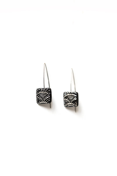 Graziella Cei Seigaiha Small Ceramic Earrings 2