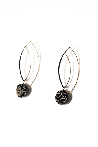 Graziella Cei Small Round Ceramic Earrings 1