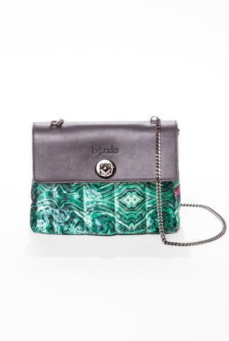 Le4uadre Vanity Malachite Bag 1