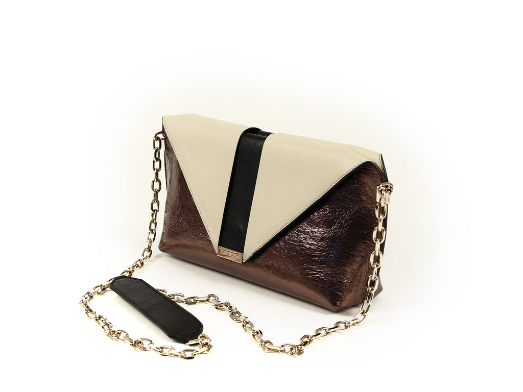 MuSté Studios Daphne Mini Shoulder Bag Bronze Color Block 2
