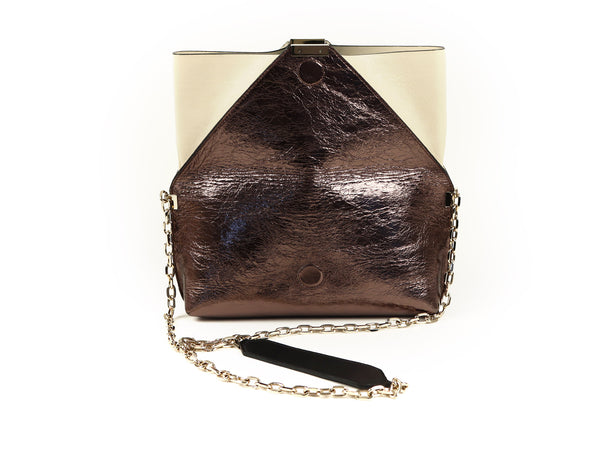 MuSté Studios Daphne Mini Shoulder Bag Bronze Color Block 3