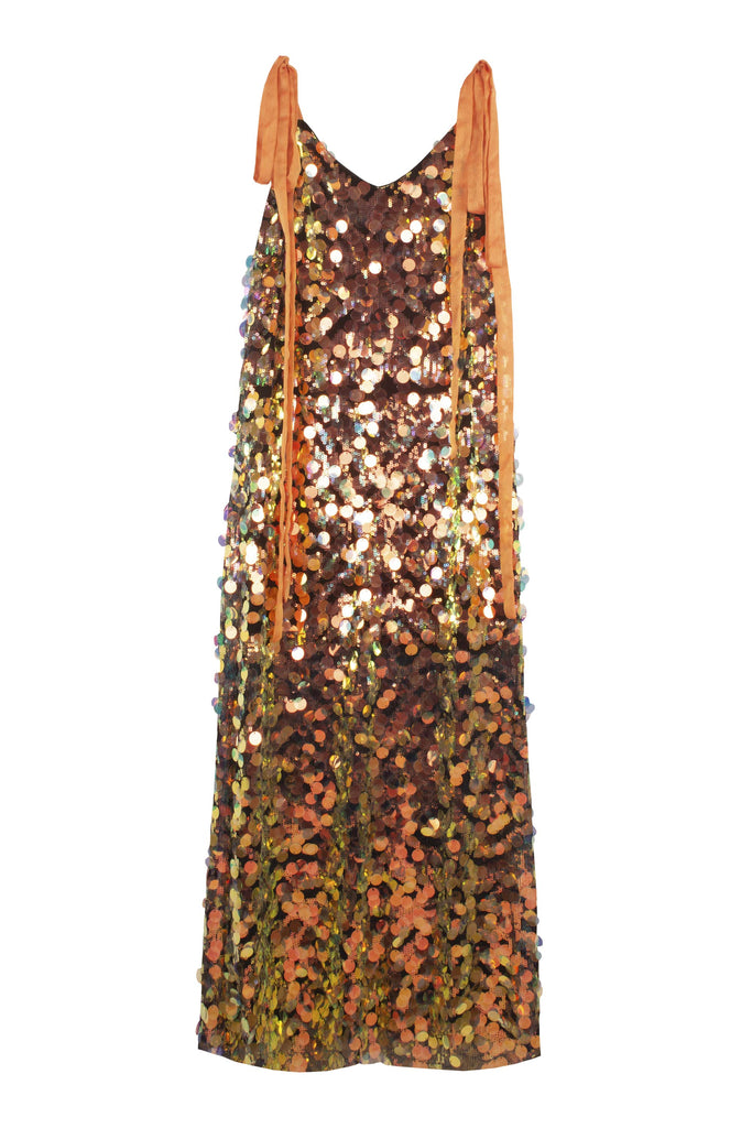 The B. by Federico Barrazzo Long Maxi Sequin Dress with Tapes 1