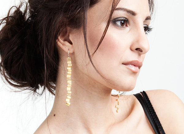 Valentina Falchi Tagliatella Earrings Gold 2