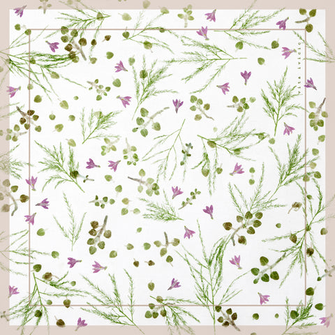 Vita Ivicic Spring Herbs Small Scarf 1