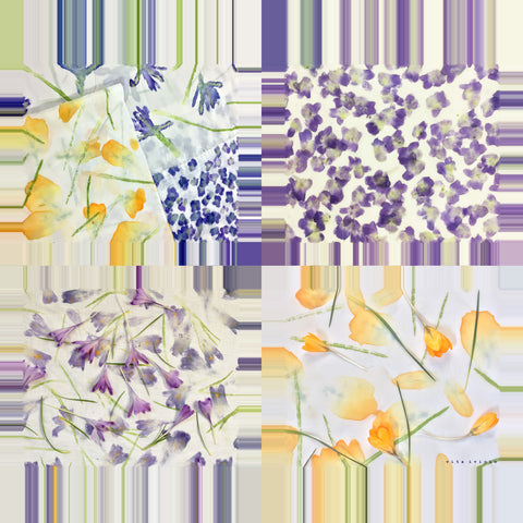 Vita Ivicic Spring Violets Small Scarf 1