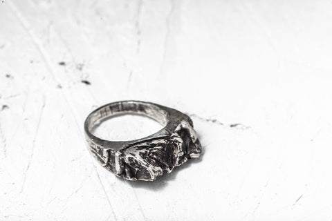 Xenophora Mountains Silver Ring 1