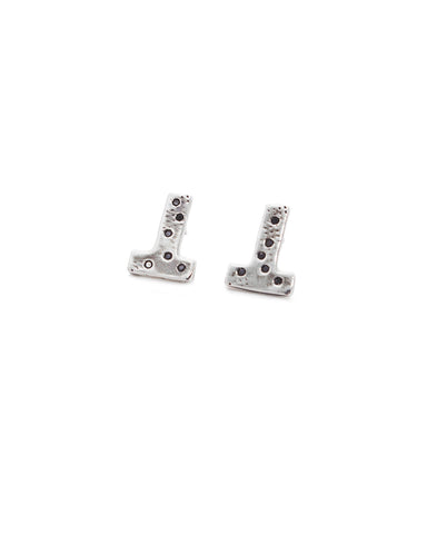 Dea Rail Atlantis T Silver Earrings 1