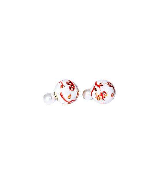 Netsuke Marui Total White Earrings 1
