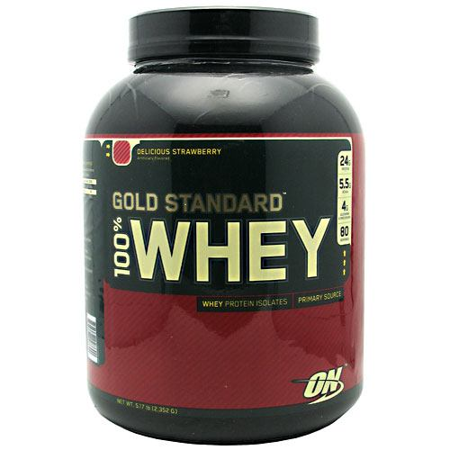 Optimum Nutrition Gold Standard 100% Whey - Delicious Strawberry - 5 lb - 748927028690