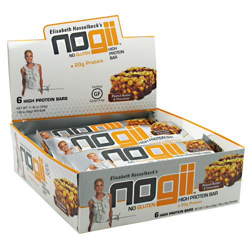 NoGii NoGii High Protein Bar - Peanut Butter & Chocolate - 6 Bars - 810756020043