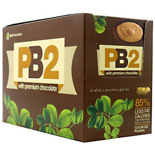 Bell Plantation PB2 Powder - Peanut Butter with Premium Chocolate - 12 Packets - 10850791002120
