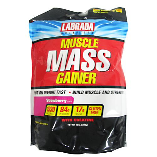 Labrada Nutrition Muscle Mass Gainer - Strawberry - 12 lb - 710779570030