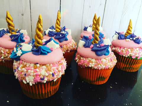 Unicorn Rainbow Cupcakes