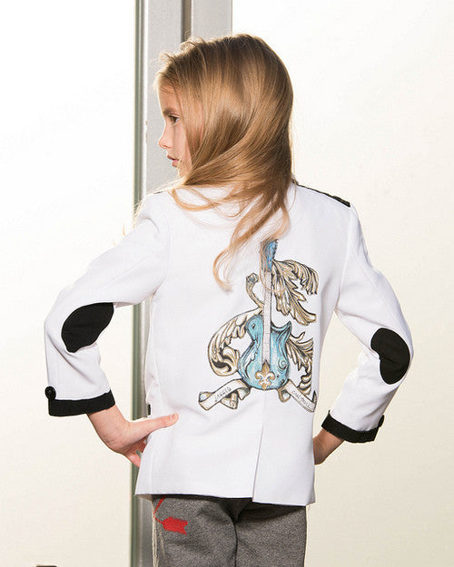 White Rock n Roll Tuxedo Jacket