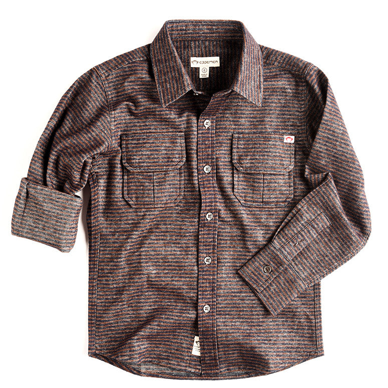 Mason Shirt - Bitter Chocolate Stripe