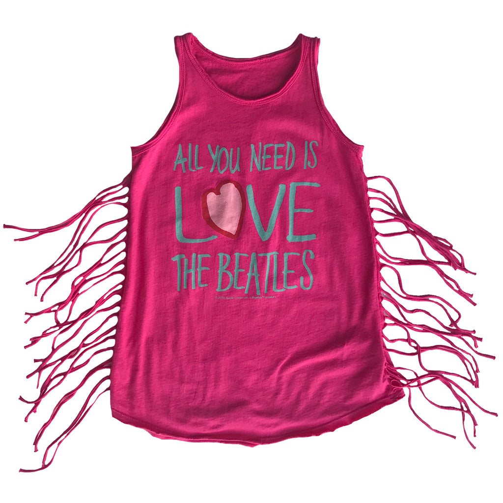 Beatles All You Need is Love Biker Fringe Dress