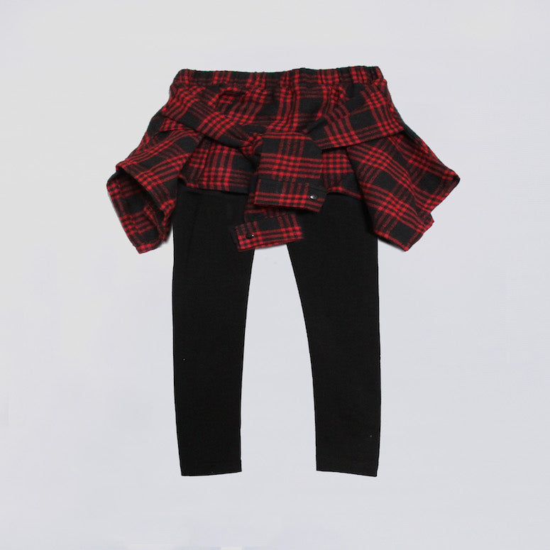 Fiona Shirt Leggings - Red Plaid