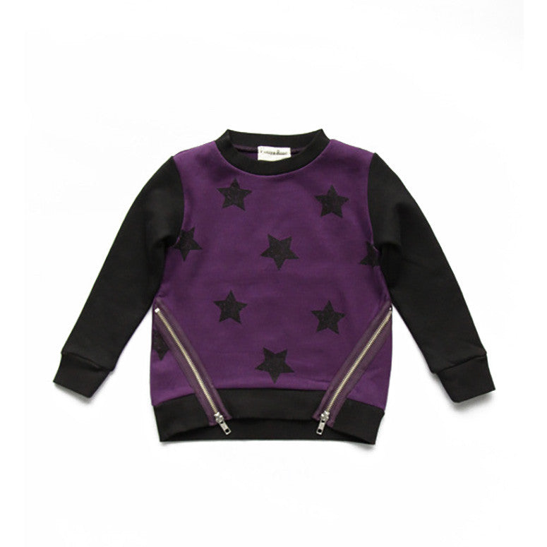Kayla Grape Zipper Sweatshirt - Kamari Kids
