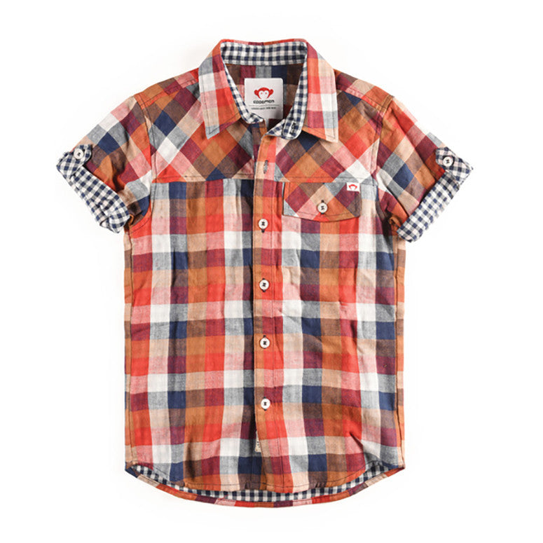 HARVEY SHIRT IN PLAID - Kamari Kids
