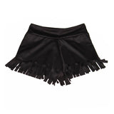 Black Cut Fringe Short - Kamari Kids