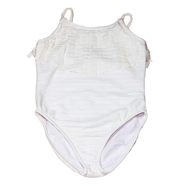 Coconut Arrow Fringe Swimsuit - Kamari Kids