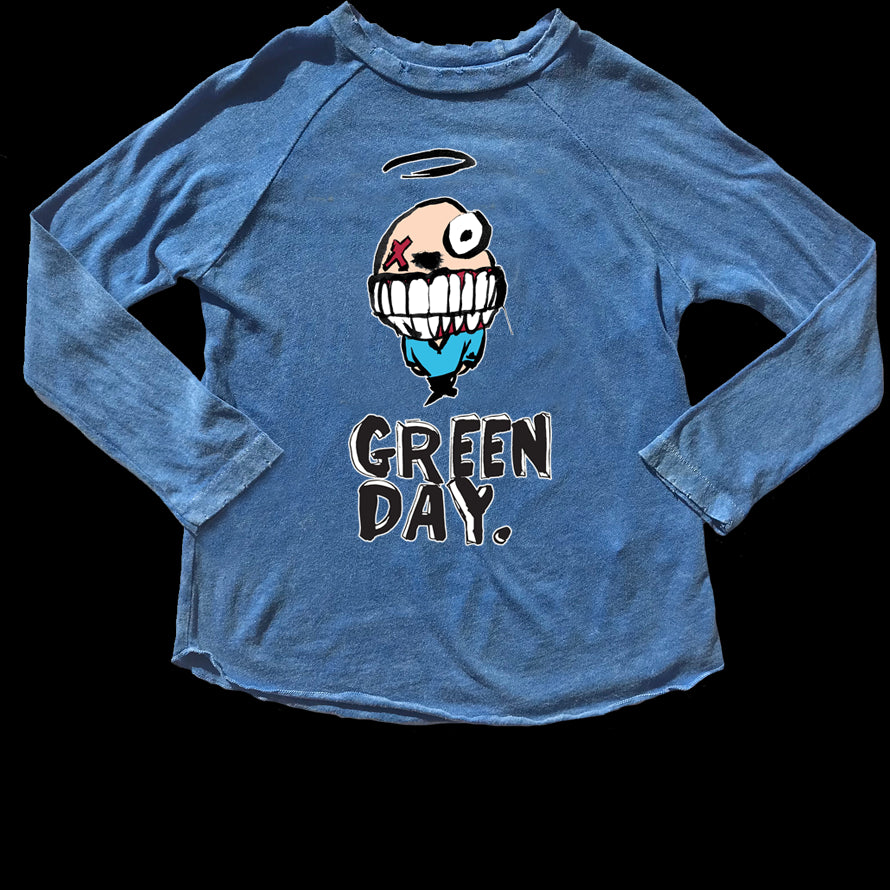 Green Day Distressed Raglan Tee