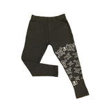 LA Skull Grey Cropped Legging - Kamari Kids