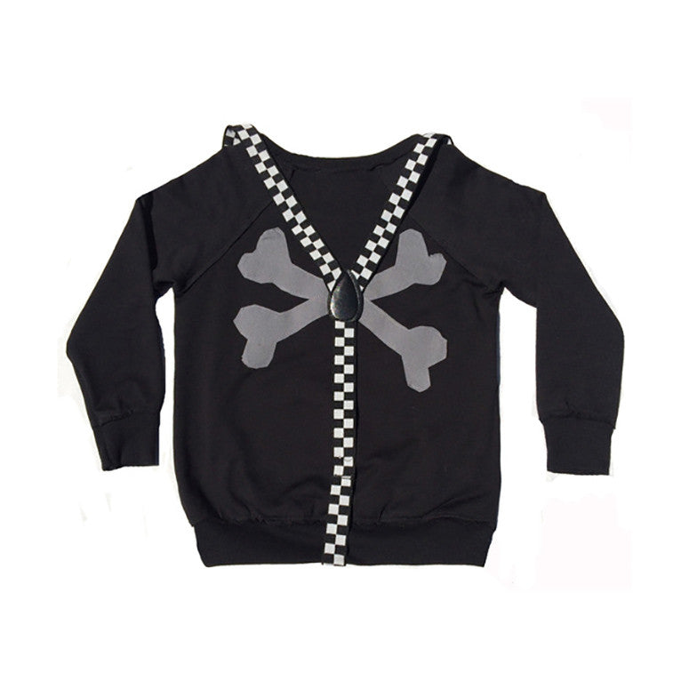 Skull n Bones Raglan w/ Removable Suspenders