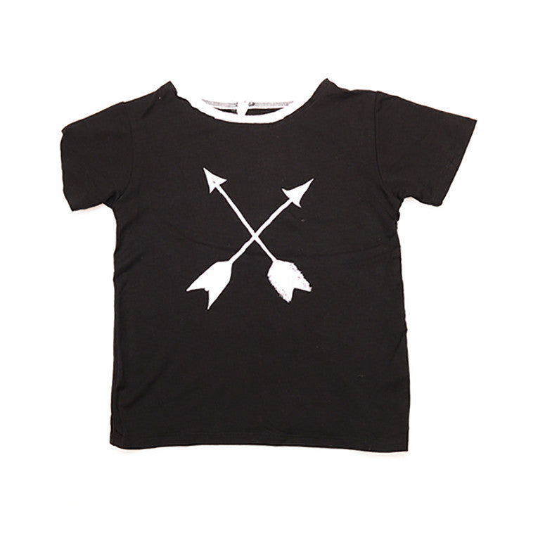 Arrow Basic Black and White Tee - Kamari Kids