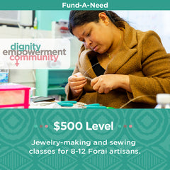 Fund-a-Need-500-artisan-jewelry-making-sewing-classes
