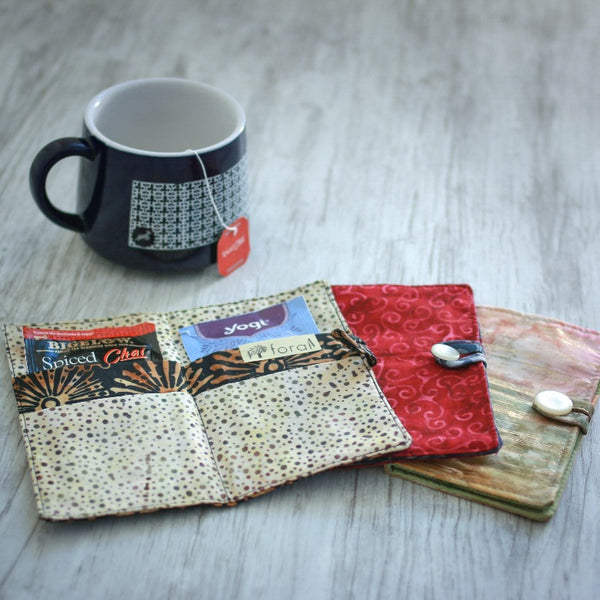 Tea Wallets in Bright Batiks