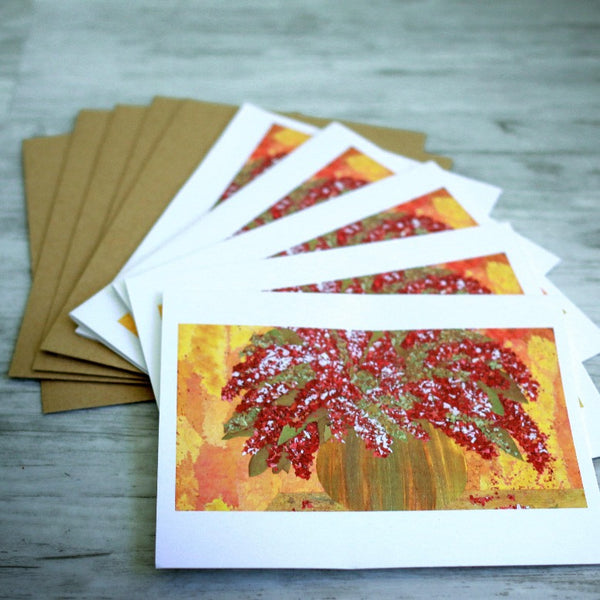 Hand-Cut Botanical Notecards