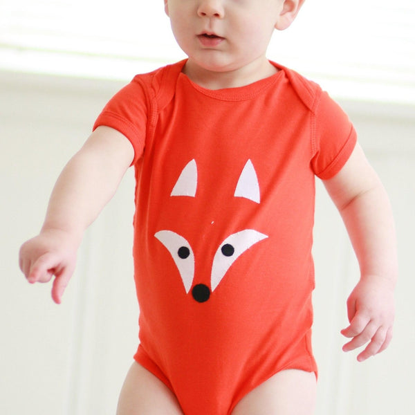 Onesie or Tee with Hand-Appliqued Fox - Forai