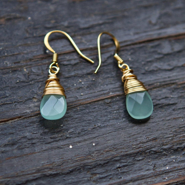 Mingle Collection Drop Earrings in Gold or Silver