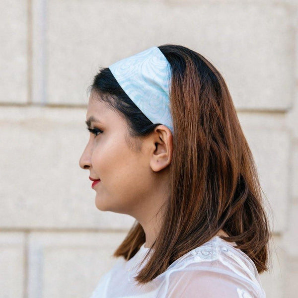 Kazuri Reversible Headbands in Bright Batiks