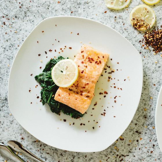 Honey lemon glazed salmon