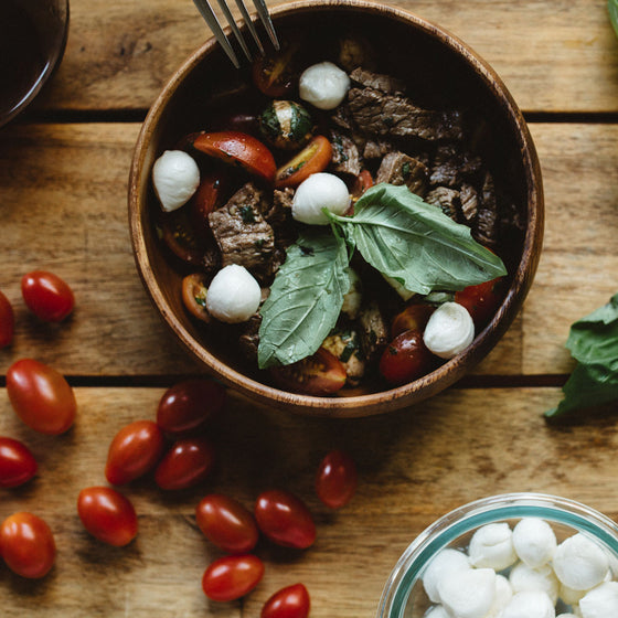Sirloin steak caprese salad