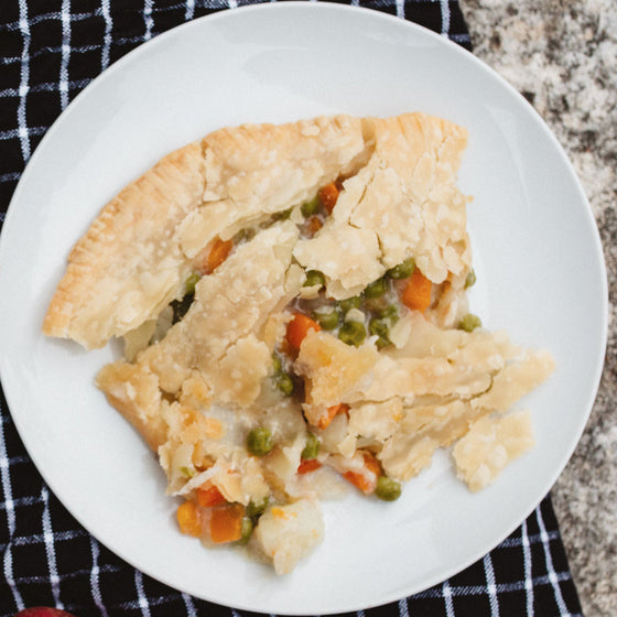 Vegetable & chickpea pot pie