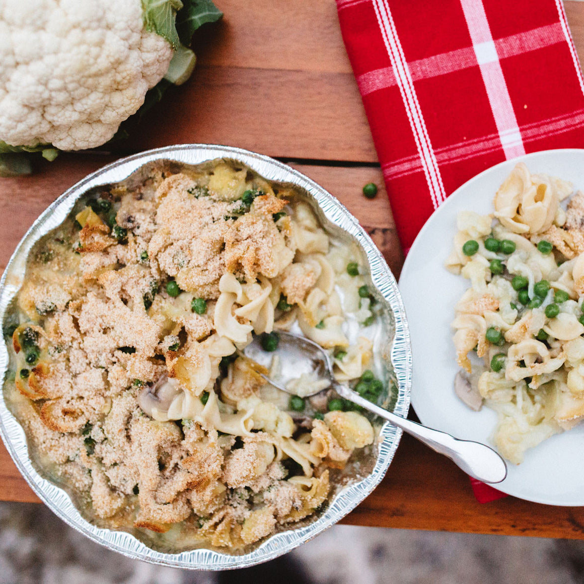 Cauliflower tetrazzini