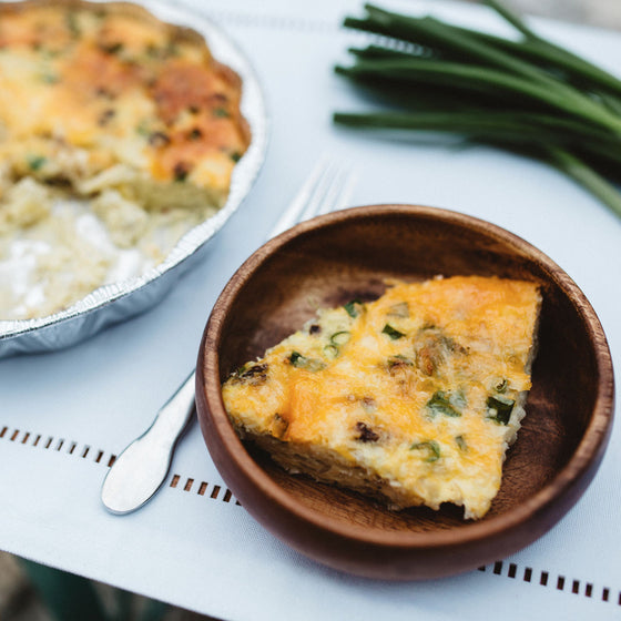 Vegetarian farmers breakfast casserole
