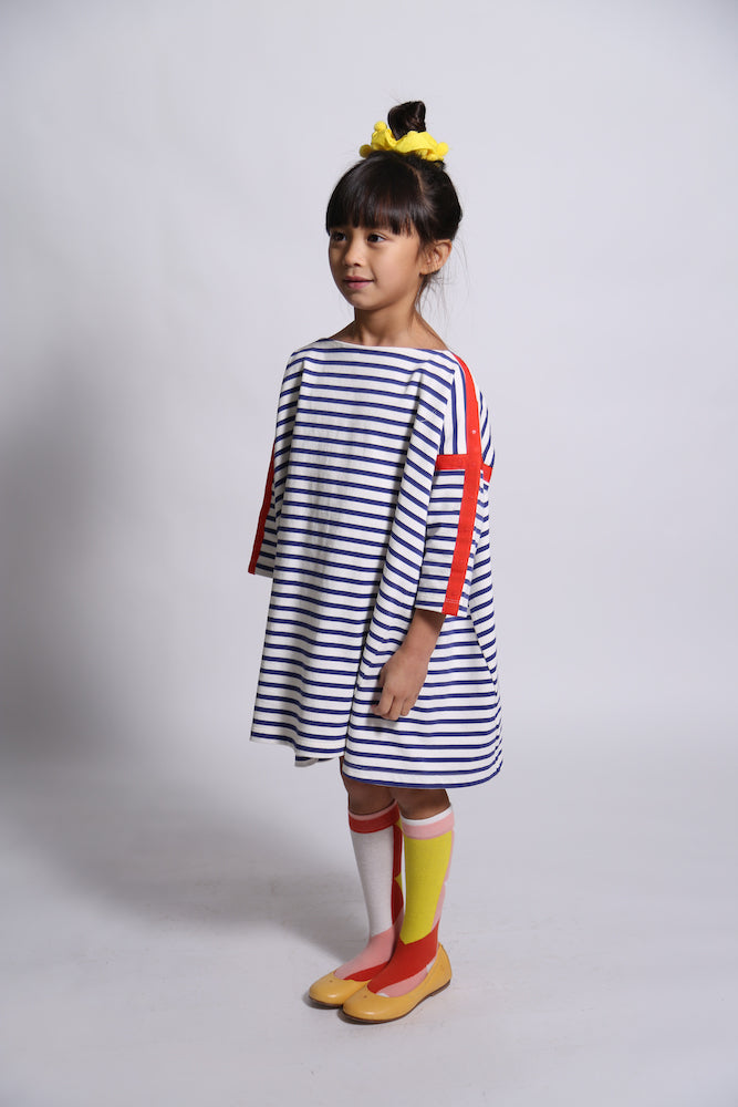 Box Fit Dress with Snap Tape