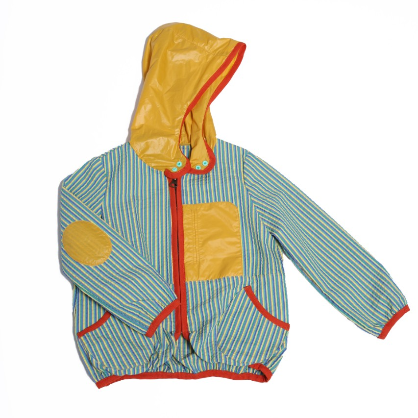 Patchwork Hooded Bomber Jacket