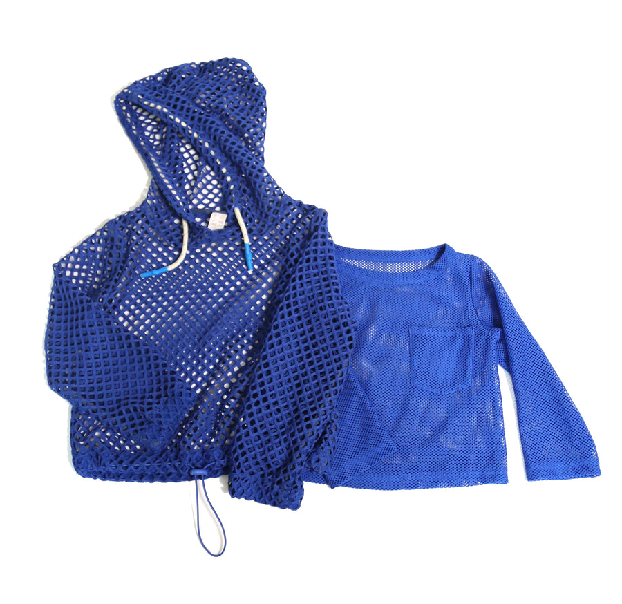 Two-in-One Bolero Hoodie Pullover