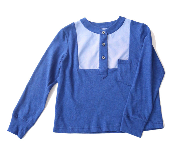 Long Sleeve Henley w/ Bib