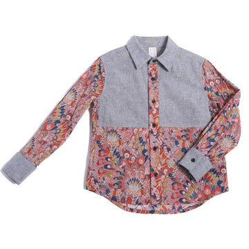 Vest Patchwork Button Down