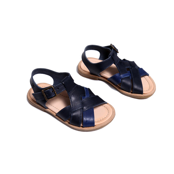 Duo-Tone Braided Sandal