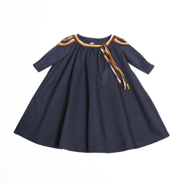 Indira Scalloped Ribbon Smock