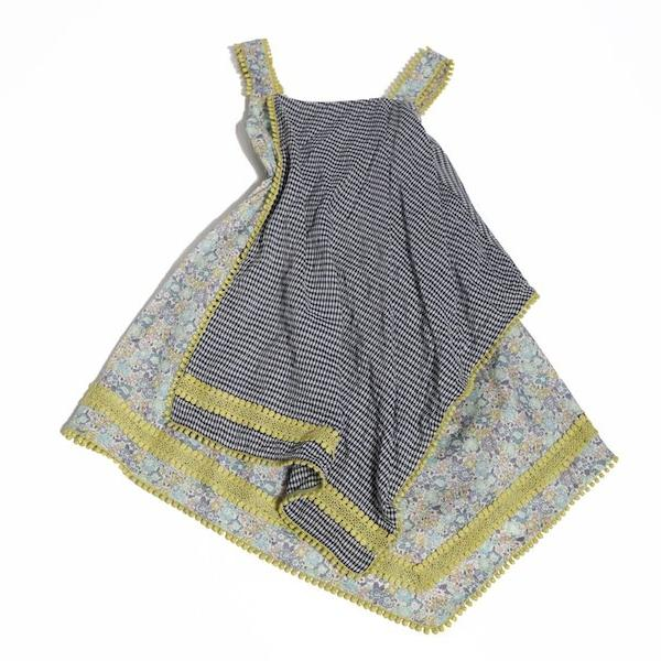 Embroidered Handkerchief Apron Dress