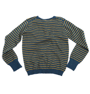 Striped Henley Pullover